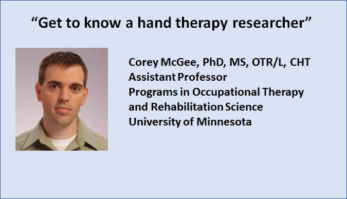 """Get to know a hand therapy researcher"""
